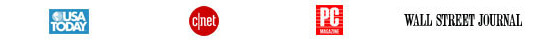 cnet, wall street journal, PCWorld, USAToday